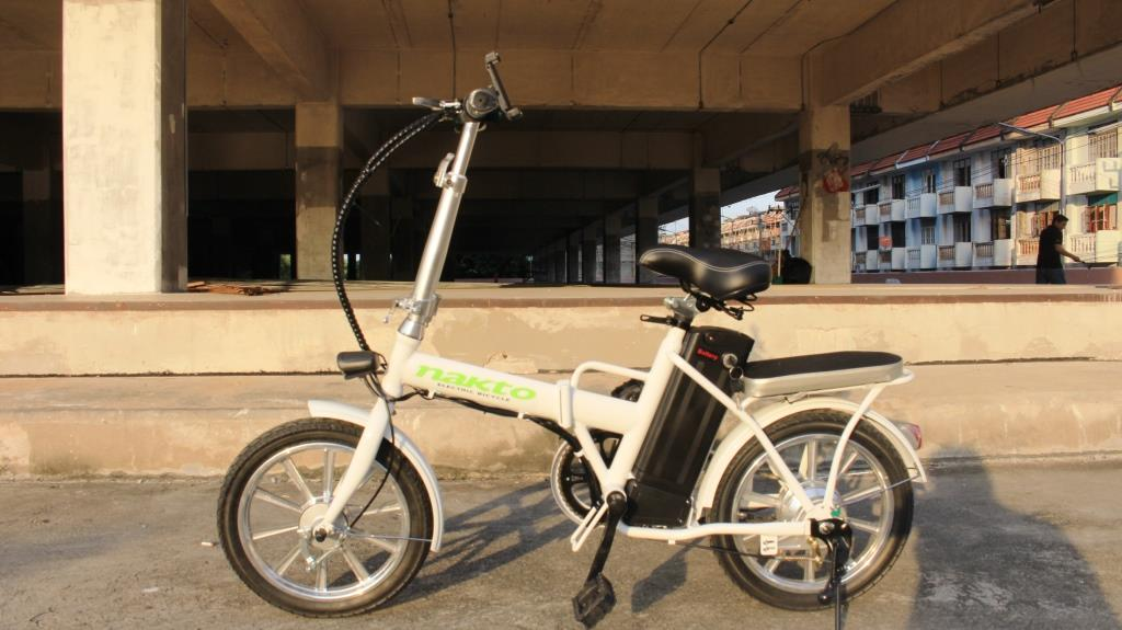 BEIBEI จักรยานไฟฟ้าพับได้ 250 วัตต์ ล้อ 16 นิ้ว แบตลิเที่ยมไอออนเบา 2 กก. คันเล็ก 22 กม./ชม. 20 กม./ชาร์จ