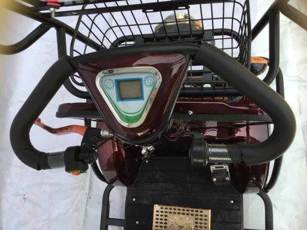 FAKEN มอเตอร์ไซค์ไฟฟ้า 4 ล้อ 2 ที่นั่ง แบบมีหลังคา 500 วัตต์ เบาะหลังนั่งได้ 2 คน ทรงคล้ายรถกอล์ฟ 25 กม./ชม. 40 กม./ชาร์จ