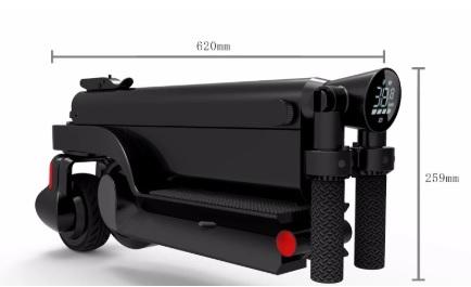 HX สกู๊ตเตอร์ไฟฟ้า พกพา พับได้ 25 กม./ชม. 20 กม./ชาร์จ