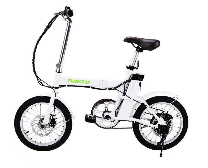 NEKTO จักรยานไฟฟ้าพับได้ 250 วัตต์ ล้อ 16 นิ้ว แบตลิเที่ยมไอออนเบา 2 กก. 22 กม./ชม. 20 กม./ชาร์จ
