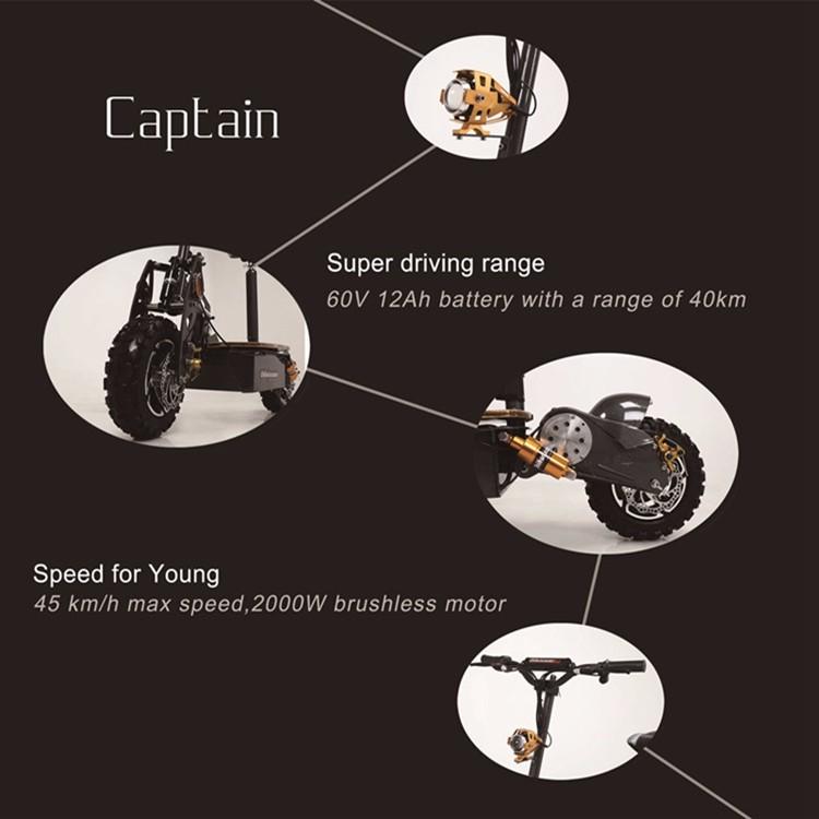 SCOOTY สกู๊ตเตอร์ไฟฟ้า 2000 วัตต์ ล้อใหญ่ วิ่งเร็ว 50 กม./ชม. 25 กม./ชาร์จ