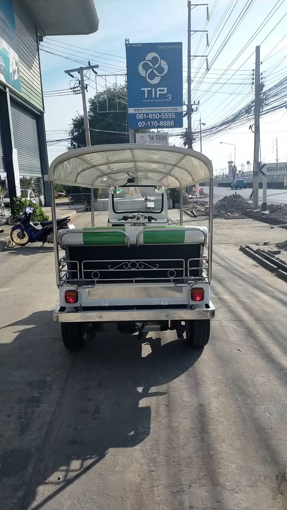TUK TUK Thai King รถตุ๊กๆ ไฟฟ้า 4,000 วัตต์ 60 กม./ชม. 100 กม./ชาร์จ จดทะเบียนได้