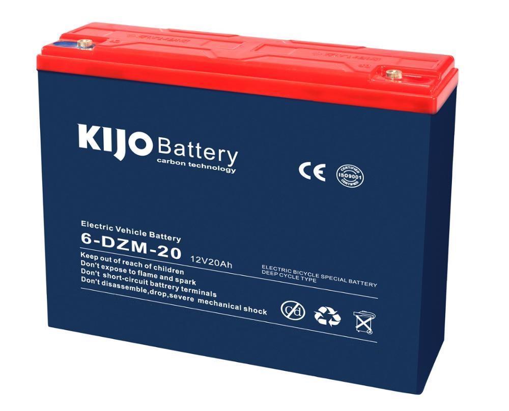 KIJO แบตเตอร์รี่แห้ง ตะกั่วกรด Lead Acid 12V20Ah สำหรับ มอเตอร์ไซค์ไฟฟ้า สกู๊ตเตอร์ไฟฟ้า
