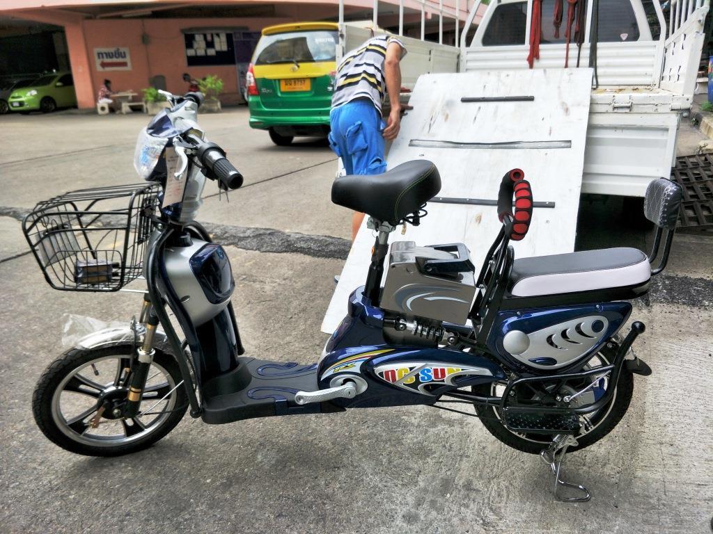 JEEMO จักรยานไฟฟ้าสกู๊ตเตอร์ 350 วัตต์ 35 กม./ชม. แบตลิเที่ยมไอออนเบา