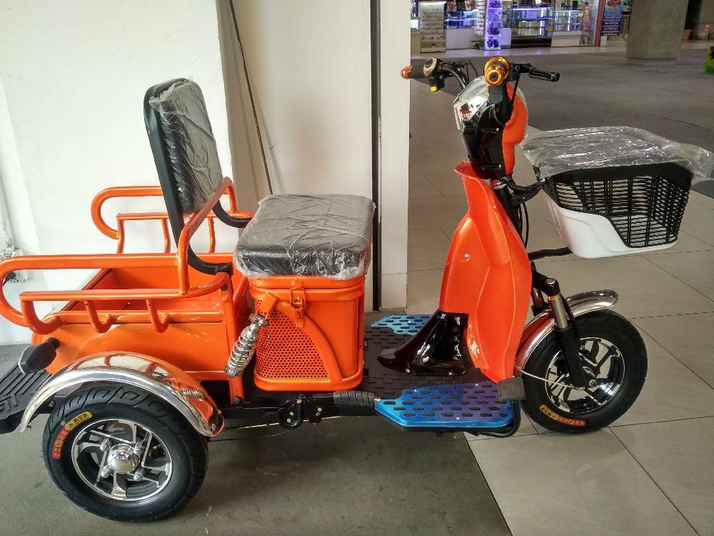 MAMA มอเตอร์ไซค์ไฟฟ้า 3 ล้อ ทรงเหล็ก สีส้ม 500 วัตต์