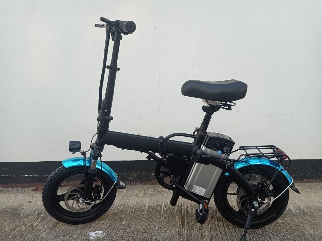 HANYONG จักรยานไฟฟ้าพับได้ 350 วัตต์ ล้อ 14 นิ้ว แบตลิเที่ยมถอดได้ 30 กม./ชม. 40 กม./ชาร์จ