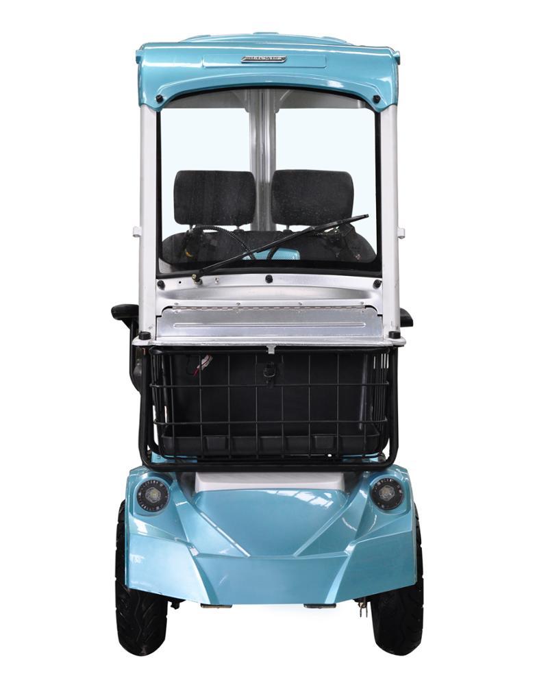POOJAA สกู๊ตเตอร์ รถกอล์ฟน้อย 4 ล้อ 2 ที่นั่ง 500 วัตต์ 30 กม./ชม. 30 กม./ชาร์จ
