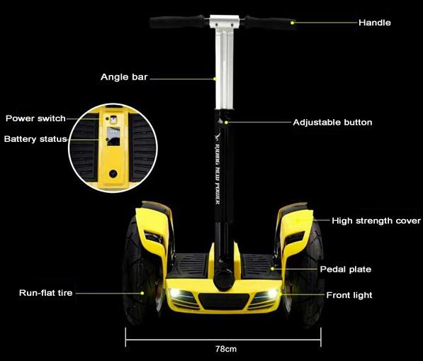 TADA สกู๊ตเตอร์ไฟฟ้า 2 ล้อใหญ่ 1200 วัตต์ 20 กม./ชม. ไกล 30 กม.