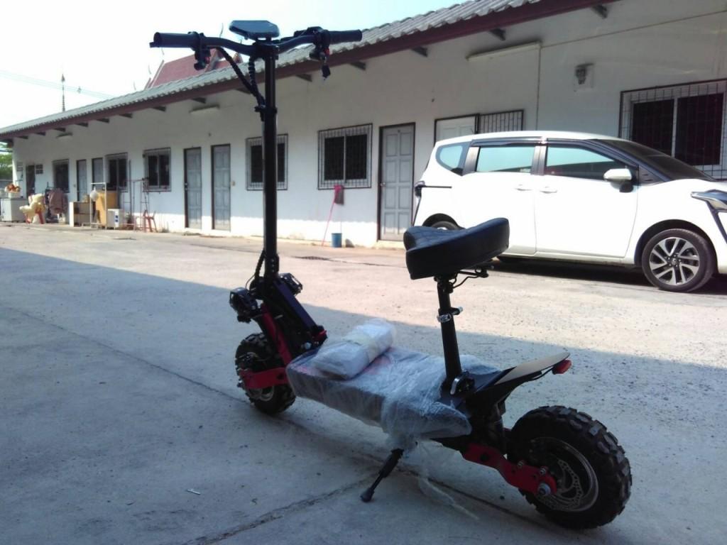 JIGGO-Raptor สกู๊ตเตอร์ไฟฟ้า ยืน-นั่ง พับได้ 2,000 วัตต์ 60 กม./ชม. 50-60 กม./ชาร์จ