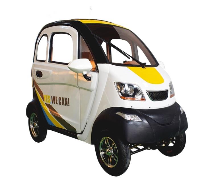 MOMO รถยนต์ไฟฟ้า 4 ล้อ 3 ที่นั่ง 1,200 วัตต์ ความเร็วสูงสุด 40 กม./ชม. 50 กม./ชาร์จ