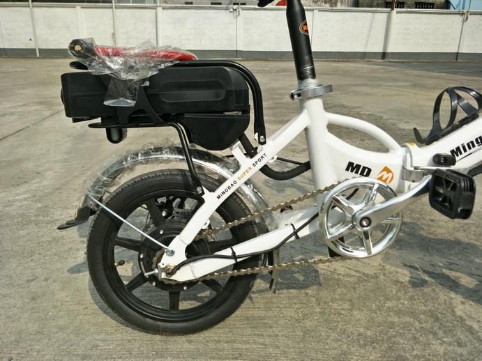 NongNID จักรยานไฟฟ้าพับได้ 350 วัตต์ ล้อ 16 นิ้ว แบตลิเที่ยมไอออนเบา 2 กก. 25-28 กม./ชม. 20-30 กม./ชาร์จ แรง จิ๋วแต่แจ๋ว