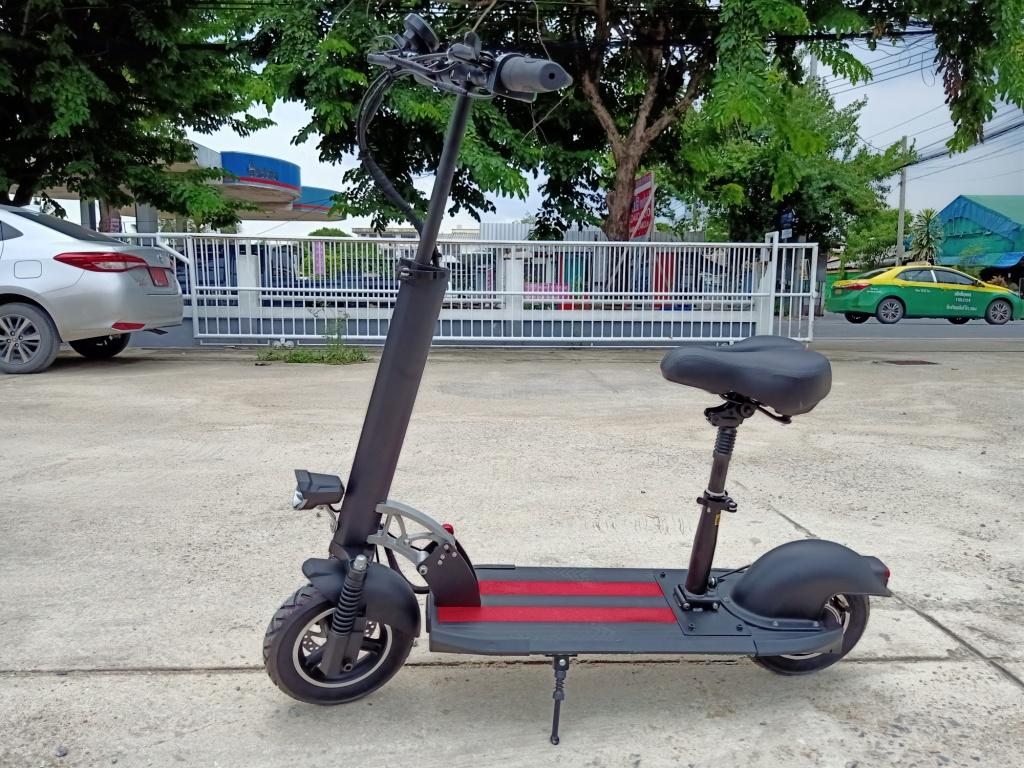 POKY สกู๊ตเตอร์ไฟฟ้า-ยืน-นั่ง พับได้  500 วัตต์ 30 กม./ชม 30 กม./ชาร์จ