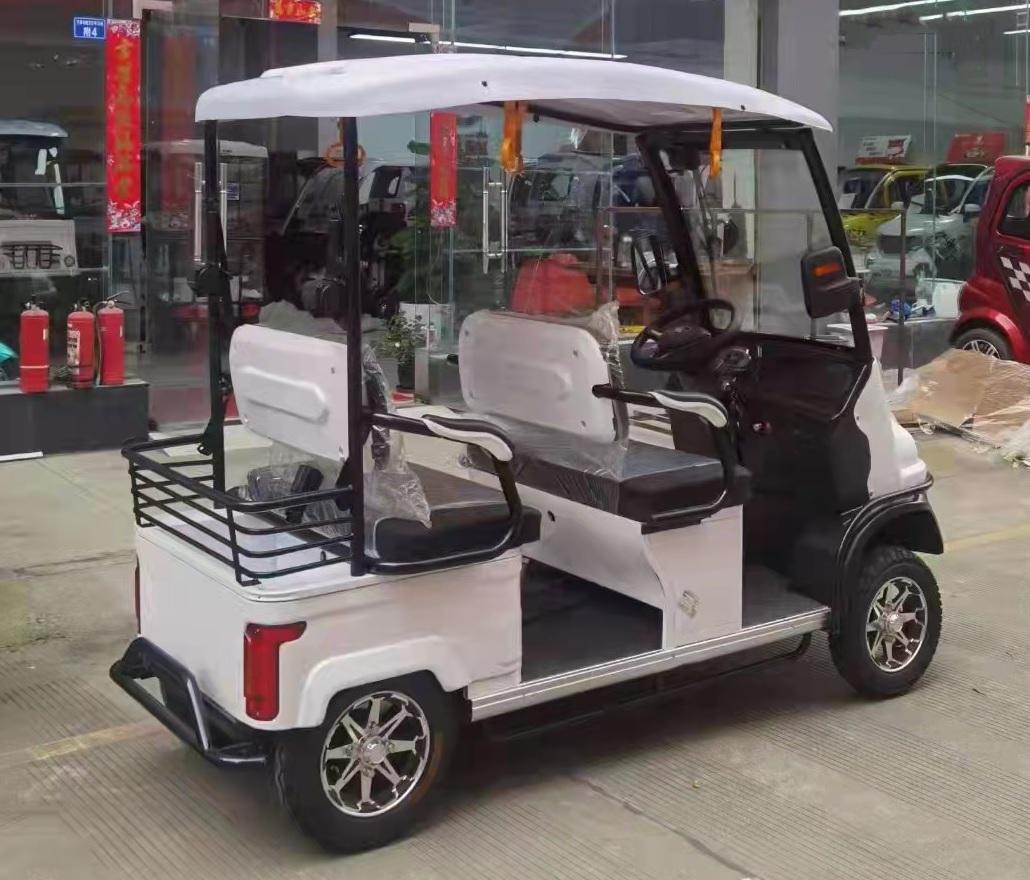 POOLOM รถกอล์ฟไฟฟ้าน้อย 4 ล้อ 4 ที่นั่ง 1200 วัตต์ 25 กม./ชม. 55 ก.ม./ชาร์จ