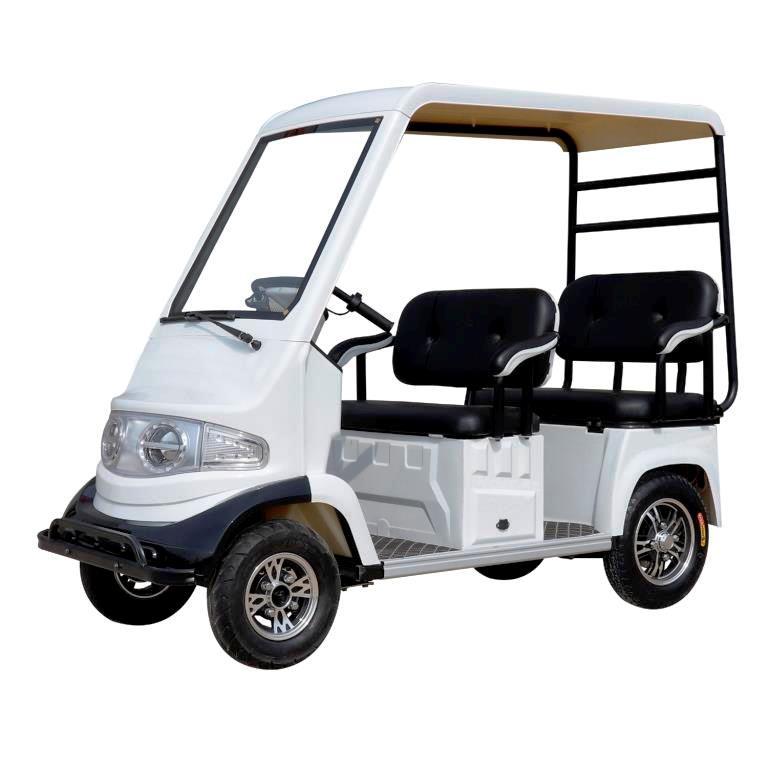 POOLOM รถกอล์ฟไฟฟ้าเล็ก 4 ล้อ 4 ที่นั่ง 650 วัตต์ 30 กม./ชม. 30 ก.ม./ชาร์จ