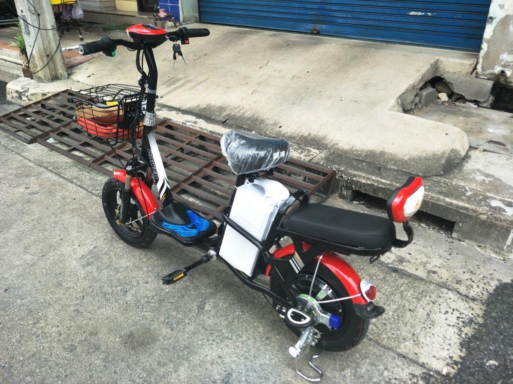 TATA จักรยานไฟฟ้า 350 วัตต์ 30 กม./ชม. คันใหญ่กำลังดี แบตเตอร์รี่ถอดออกมาชาร์จได้