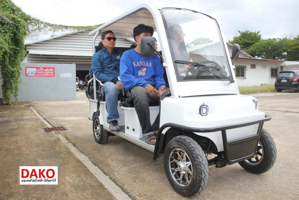 FEBO รถกอล์ฟไฟฟ้า 4 ล้อ 1,200 วัตต์  6 ที่นั่ง 25-30 กม./ชม. 40 กม./ชาร์จ