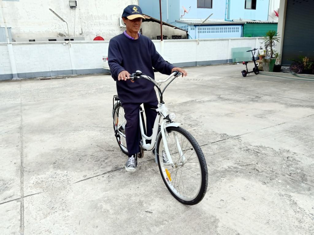 TIGER จักรยานไฟฟ้า แม่บ้าน ทรงวินเทจ ล้อ 26 นิ้ว แบตถอดออกชาร์จได้ 250 วัตต์ 25 กม./ชม. 30-35 กม./ชาร์จ