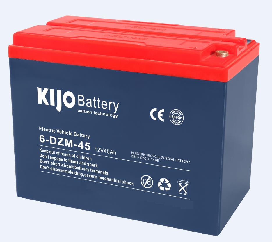 KIJO แบตเตอร์รี่แห้ง ตะกั่วกรด Lead Acid 12V45A สำหรับสกู๊ตเตอร์ไฟฟ้า รถบรรทุกไฟฟ้า