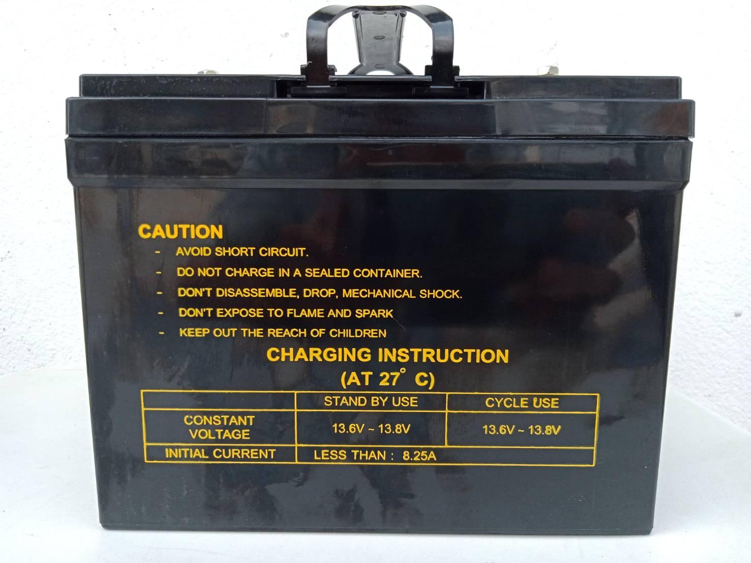 RR แบตเตอร์รี่แห้ง ตะกั่วกรด Lead Acid 12V33Ah สำหรับ มอเตอร์ไซค์ไฟฟ้า สกู๊ตเตอร์ไฟฟ้า