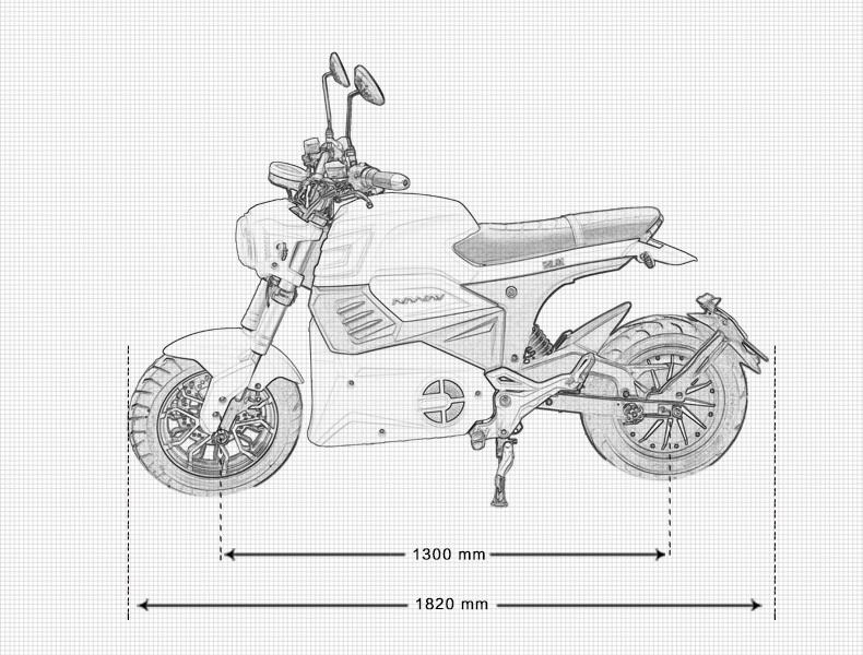 SPORT-Z มอเตอร์ไซค์ไฟฟ้า สปอร์ต 2,000 วัตต์ 95 กม./ชม. 60 กม./ชาร์จ